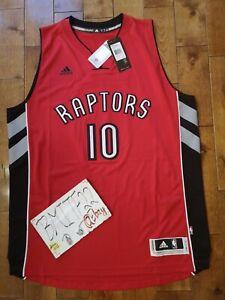 NWT DeMar DeRozan Toronto Raptors Away Red Adidas R30 Swingman Jersey Men XL