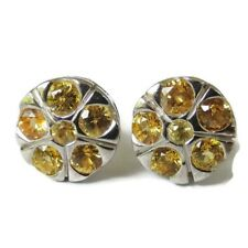 Genuine 925 sterling silver yellow sapphire quality color erring good 100% new