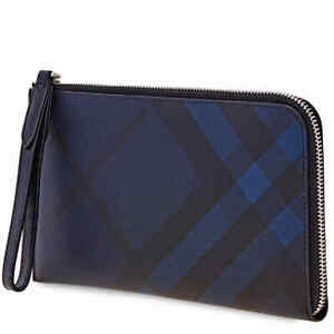 Burberry London Check Travel Wallet in Navy/Black 4052279