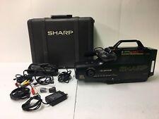 Vintage Sharp VHS VL-L270U Camcorder w/ Case, Charger, Battery, AV Cables Camera