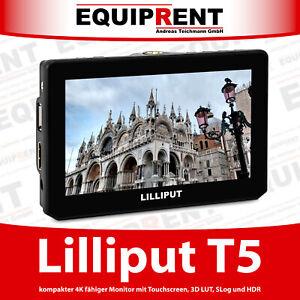"Lilliput T5 4K/60p fähiger 12,7cm 5"" Zoll Monitor mit 3D LUT, SLog und HDR EQD11"