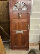 Hardwood External Door with glazed panel