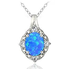 Blue Simulated Sterling Silver Fine Jewellery