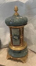 Green Stone Reuge Carousel Vintage Italy Cigarette Holder Music Box Rare