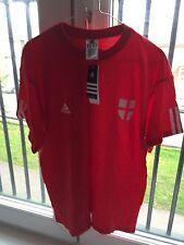 Adidas Oficial Inglaterra Camiseta, M, Nuevo + Etiquetas, Rojo, Algodón