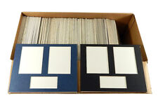 """Over (125) Framing Mats With 3 Openings 9"""" x 7"""" ^ Black & Blue"""