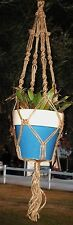 Macrame Plant Hanger 28 inch Button Knot 3 ply natural Jute