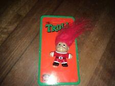 VINTAGE 1989 THOMAS DAM XMAS CHRISTMAS PIN TROLL RED HAIR no. 50699 MINI - NOS
