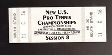 VINTAGE 1982 UNITED STATES PRO TENNIS CHAMPIONSHIPS TICKET LONGWOOD CRICKET CLUB