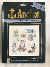 Anchor Hardanger Made Easy Counted Cross Stitch Kit In The Garden 7 X 7 Inches