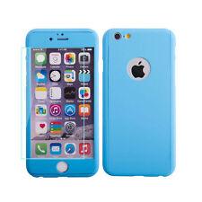 Apple Iphone 6 6s 4.7 Blu Custodia Rigida alterata Vetro Cover posteriore anteriore