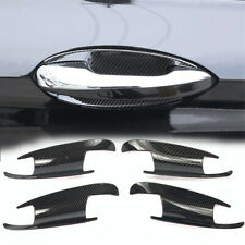 Gloss Carbon Print Dipping Door Handle Bowl Protect Plate For 12-19 W166 ML GLE