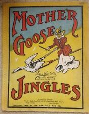 EXTREMELY RARE MOTHER GOOSE JINGLES 1904 SAALFIELD MUSLIN BOOK