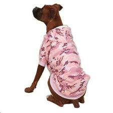 XSM Dog Hoodie Sweatshirt Pink CAMO FLEECE lined Dog Sweater Dog Coat WARM