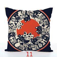 Japanese Retro Throw Pillow Case Cover Cushion Sofa Home Decor
