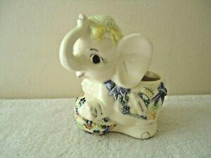 "Vintage Babys Room / Nursery Elephant Planter "" BEAUTIFUL COLLECTIBLE ITEM """