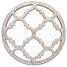 Wooden Frame Round Decorative Mirrors