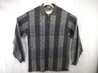 Bachrach  Polo Sweater Size XL Long Sleeve Mens Brown Black