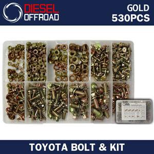 BOLT + NUT KIT 530 PCS FOR TOYOTA LANDCRUISER 40,60,75,80,100,200 SERIES