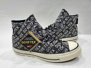 Converse Chuck 70 Hi Gore-Tex All Over Logo Skate Shoes GTX Print Black Mens 9