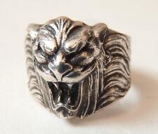 Bague ancienne en forme de lion monstre démon ring