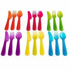 IKEA 18 Piece Plastic Cutlery Set Knife Fork Spoon for Kids Baby Child BPA