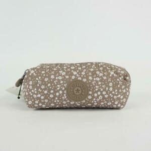 KIPLING ANTHONY Nylon Pouch Cosmetic Case Dainty Daisies Beige