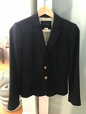 New without tags J. CREW Schoolboy Blazer Navy Blue Wool Women's Size 0 Zero