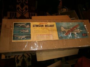 Vintage Sterling  Stinson Reliant Airplane Kit FS33