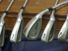 Titleist DCI Oversize+ Gold Irons 4-PW Regular Flex 5.5 Rifle Steel Very Nice!!