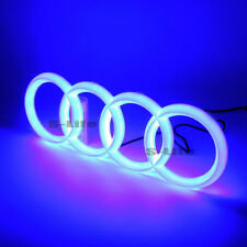 Blue Illuminated Led Grille BlLED Logo Emblem Light For Audi Q3 Q5 A1 A3 A4 A6