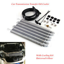 12'' Aluminum Radiator Car Transmission Transfer Oil Cooler W/Cooling 6 Row Tube
