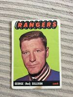 1X GEORGE RED SULLIVAN 1965 66 Topps #87 NY NEW YORK RANGERS