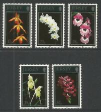 Jersey 1993 Orchids-Attractive Flower Topical (626-30) Mnh