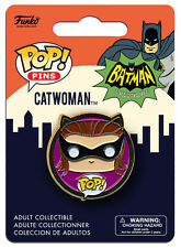 OFFICIAL DC COMICS BATMAN (CLASSIC TV SERIES) CATWOMAN POP! HEROES PIN BADGE
