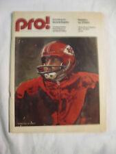 Vintage NFL 1975 Chiefs Vs Steelers Program Three Rivers Stadium Len Dawson