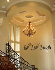 LIVE LOVE LAUGH HEARTS WORDS BEDROOM LETTERING DECAL VINYL HOME STICKER STICKY