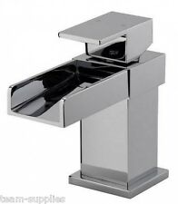 SQUARE WATERFALL CASCADE CLOAKROOM BASIN MONO MIXER TAP