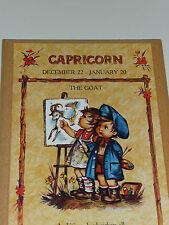 Vintage Capricorn Horoscope Art Wall Decor - Children Artists with Easel