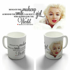 BENEATH THE MAKE UP MARILYN MONROE QUOTE COFFEE MUG CUP BIRTHDAY CHRISTMAS GIFT