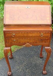 Fantastic Chippendale Style Walnut Drop Front Secretary Desk Very Very Nice
