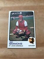 1973 TOPPS #85 TED SIMMONS HOF STL CARDS— HIGH END🔥*** (wph)