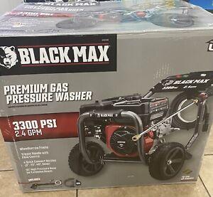 BLACK MAX 3300 PSI 2.4gpm GAS PRESSURE WASHER 212cc BM803300H
