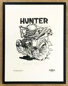 Signed Ed 'Big Daddy' Roth Screen Print Rat Fink Shirt Art Mooneyes Von Dutch