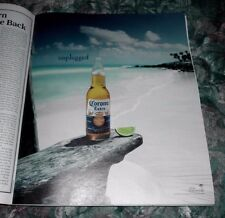 2008 Mint Print Ad Poster Corona Extra Beer Bottle Unplugged Lime Beach 12x10 in