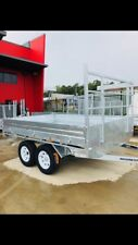 10x7 FLAT TOP TRAILERS OFF-ROAD ALL - TERRAIN TYRES GALVANISED OFFROAD