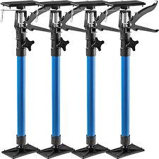 4x Étai de soutien porte pour chambranle tige télescopique écarteur porte bleu
