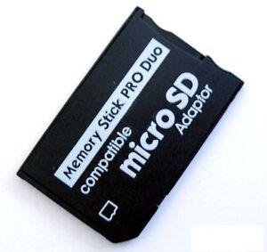 Adaptateur - lecteur de carte Micro SD/SDHC vers Memory Stick PRO Duo - Adapter