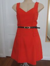 Review cute orange vintage-look dress with black top-stitching size 8 (US 4)