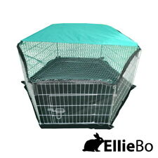 Indoor or Outdoor Galvanised Rabbit Guinea Pig Run Enclosure with cover and base